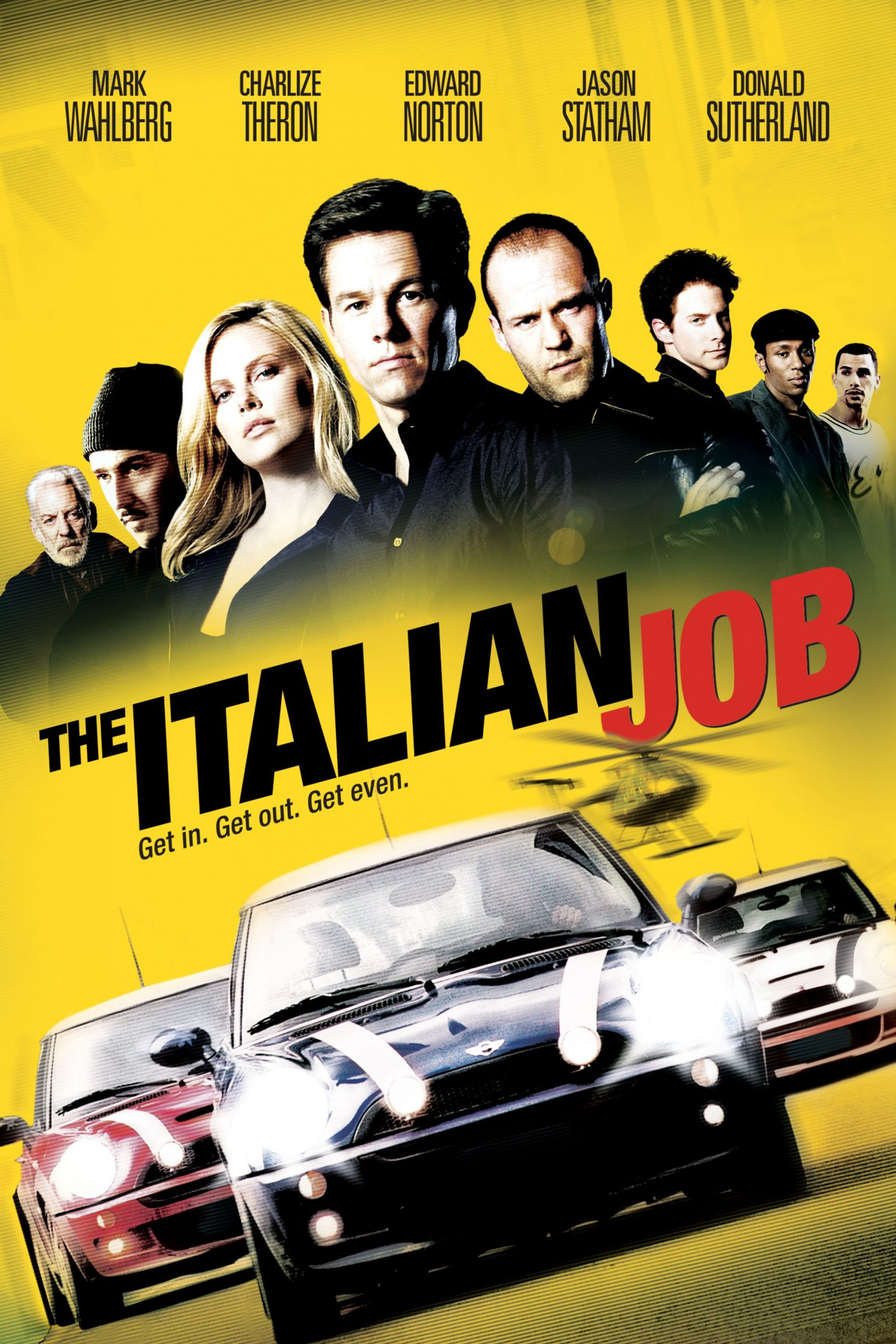 The Italian Job (2003) Movie Poster - Mark Wahlberg, Charlize ...