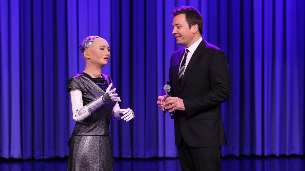Jimmy Fallon's duet with Sophia the robotic is as candy as it's unsettling