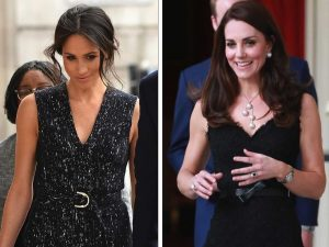 Kate Middleton and Meghan Markle matched their outfits the day gone by for horny reason